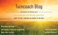 Tuincoach Blog - Jouw tuincoach schrijft voor jouw tuin - Lees ook op TuinHarmonie.nl